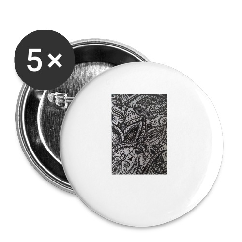 henna - Buttons small 1''/25 mm (5-pack)
