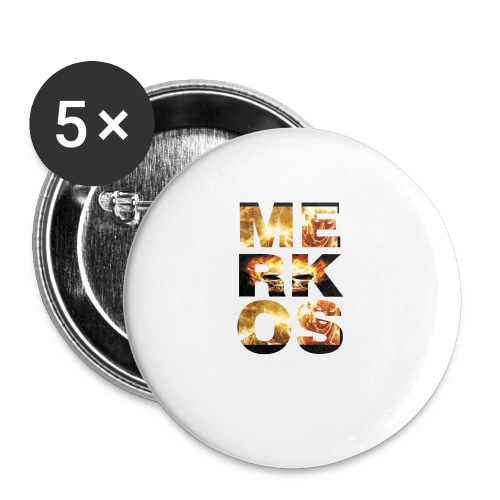 MERKOS FIRE DESIGN - Paquete de 5 chapas pequeñas (25 mm)