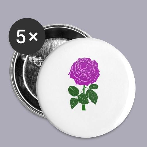 Landryn Design - Pink rose - Buttons small 1''/25 mm (5-pack)