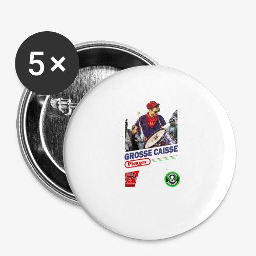 Grosse caisse playerendo - Lot de 5 petits badges (25 mm)