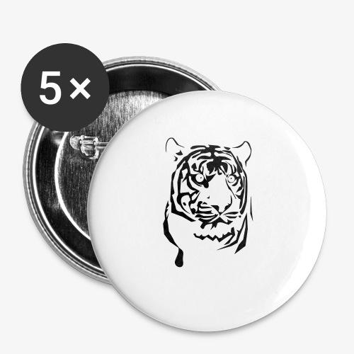 tiger - Przypinka mała 25 mm (pakiet 5 szt.)