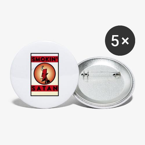 Smokin Satan - Små knappar 25 mm (5-pack)