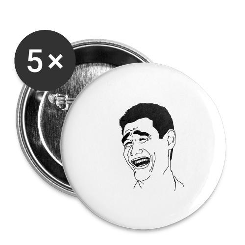 Yao Ming Face Bitch Please - Przypinka mała 25 mm (pakiet 5 szt.)