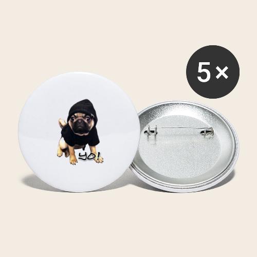 yo_mops_3 - Buttons klein 25 mm (5er Pack)