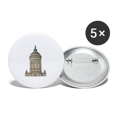 Wasserturm Mannheim c - Buttons klein 25 mm (5er Pack)