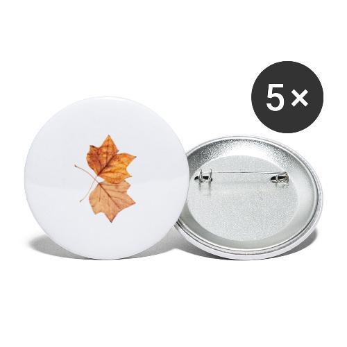Blätter - Buttons klein 25 mm (5er Pack)