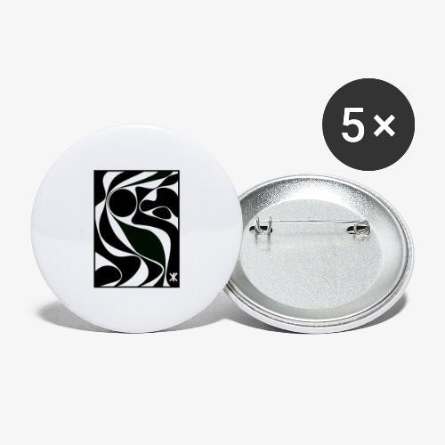 Kugel - Buttons klein 25 mm (5er Pack)