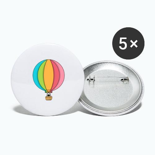 Zebra Zach Air Balloon - Små knappar 25 mm (5-pack)