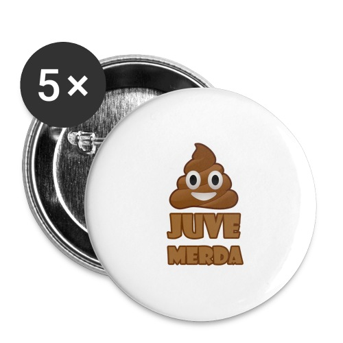 juve merda - Confezione da 5 spille piccole (25 mm)