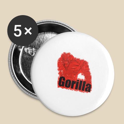 Red Gorilla - Lot de 5 petits badges (25 mm)