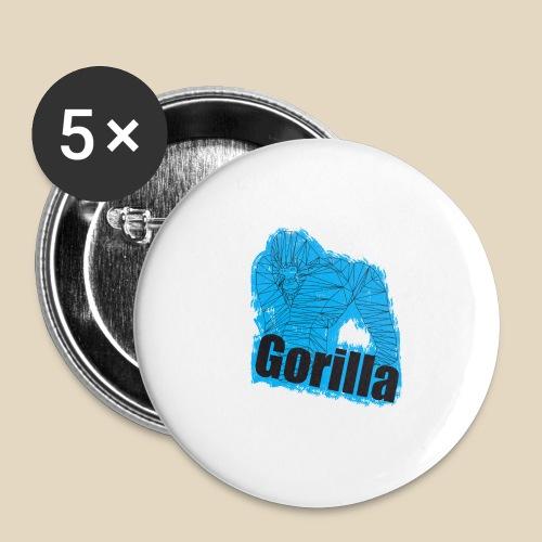 Blue Gorilla - Lot de 5 petits badges (25 mm)