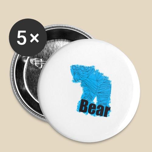 Blue Bear - Lot de 5 petits badges (25 mm)