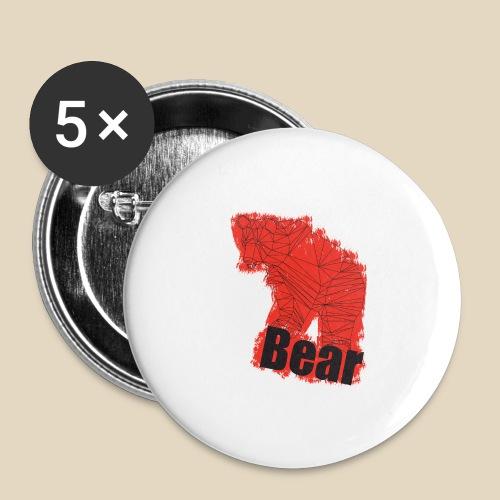 Red Bear - Lot de 5 petits badges (25 mm)