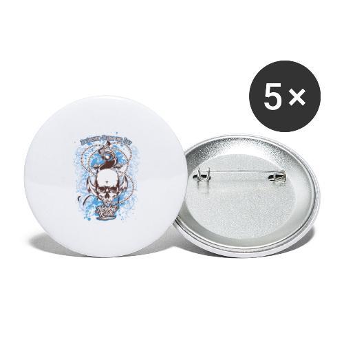 Skull Anker Design Art - Buttons klein 25 mm (5er Pack)