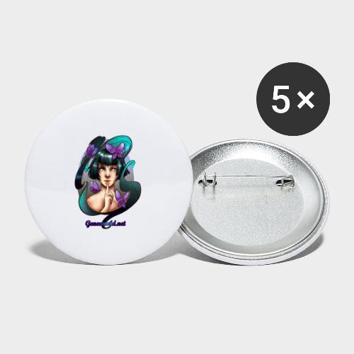 Geneworld - Papillons - Lot de 5 petits badges (25 mm)
