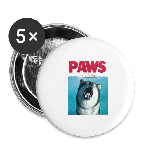 paws Alaskan Malamute - Buttons small 1''/25 mm (5-pack)