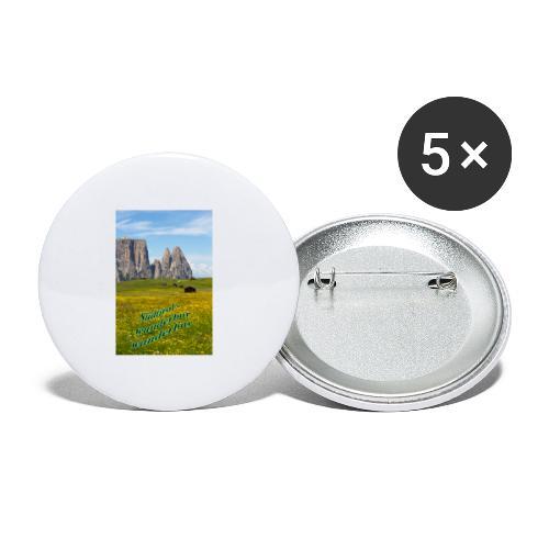Südtirol - wunderbar wanderbar - Buttons klein 25 mm (5er Pack)