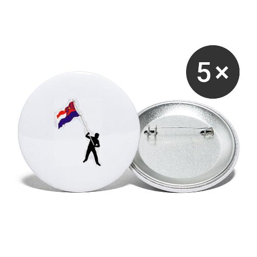 we need free dom - Buttons small 1''/25 mm (5-pack)