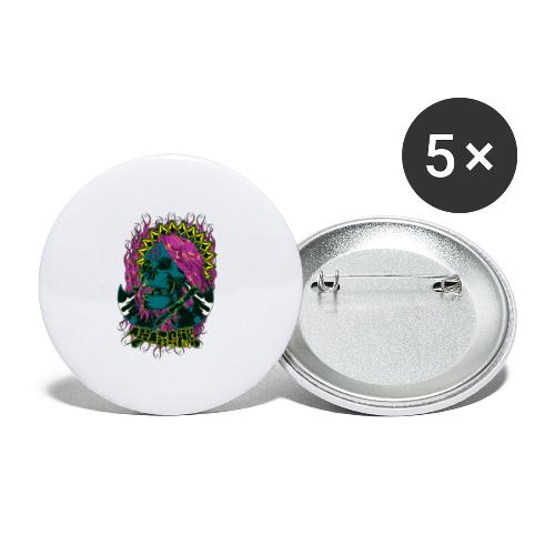 Purple Anarchy - Paquete de 5 chapas pequeñas (25 mm)