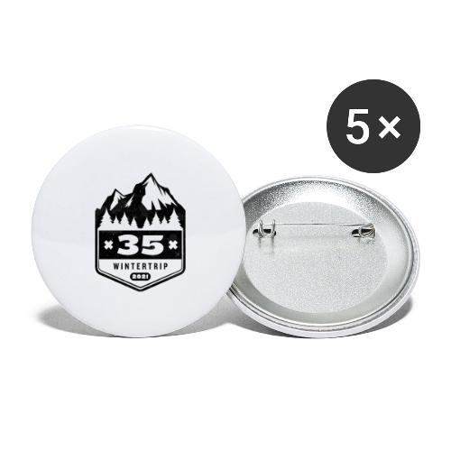 35 ✕ WINTERTRIP ✕ 2021 • BLACK - Buttons klein 25 mm (5-pack)