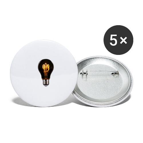Lightbulb - Buttons klein 25 mm (5er Pack)