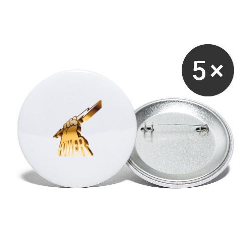 Power - Små knappar 25 mm (5-pack)