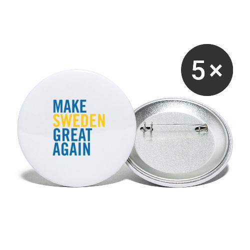 Make Sweden Great Again - Små knappar 25 mm (5-pack)
