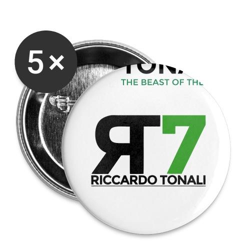 logo_riccardoTonali_new - Confezione da 5 spille piccole (25 mm)