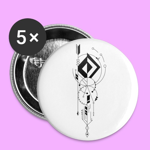 la vie - Lot de 5 petits badges (25 mm)