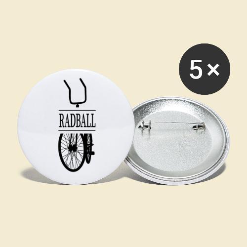 Radball   Retro Black - Buttons klein 25 mm (5er Pack)