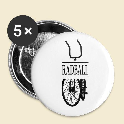 Radball   Retro Black - Buttons klein 25 mm