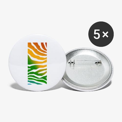 zebra - Små knappar 25 mm (5-pack)