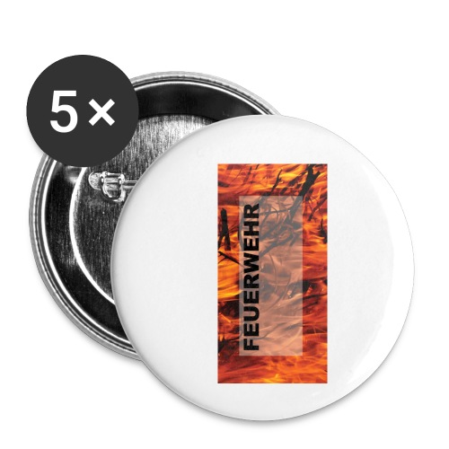 Feuerwehr Handycover - Buttons klein 25 mm (5er Pack)