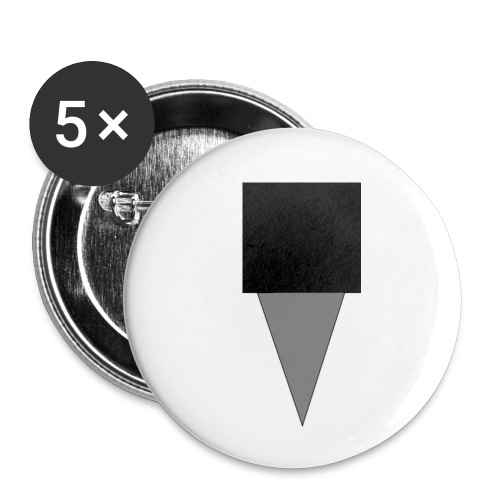Mystery Mike Hat - Buttons small 1''/25 mm (5-pack)