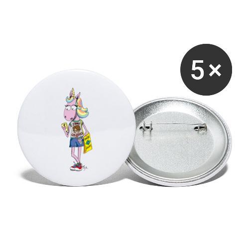 Licorne & Geek - Lot de 5 petits badges (25 mm)