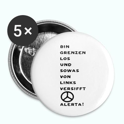 linksversifft - Buttons klein 25 mm (5er Pack)