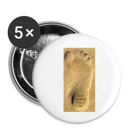 Don't Fucking Follow Me - Buttons klein 25 mm (5-pack)