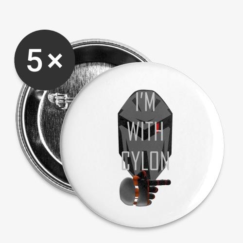 I'm with Cylon - Liten pin 25 mm (5-er pakke)