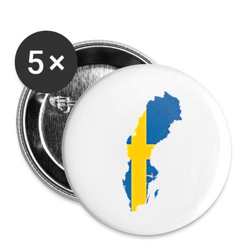 Swedish merch - Små knappar 25 mm (5-pack)