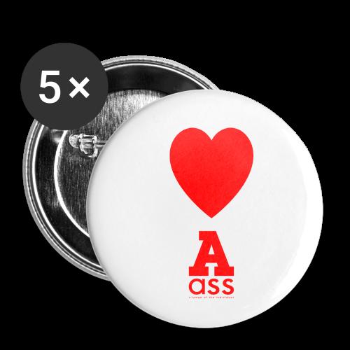 HERZ ASS - Buttons klein 25 mm