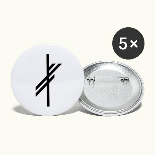 viking luck clean - Buttons klein 25 mm (5-pack)