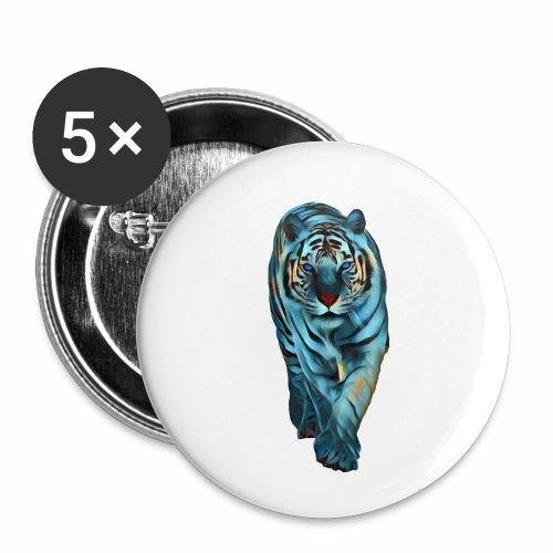 Tigre Caminando MEDIANO - Paquete de 5 chapas pequeñas (25 mm)
