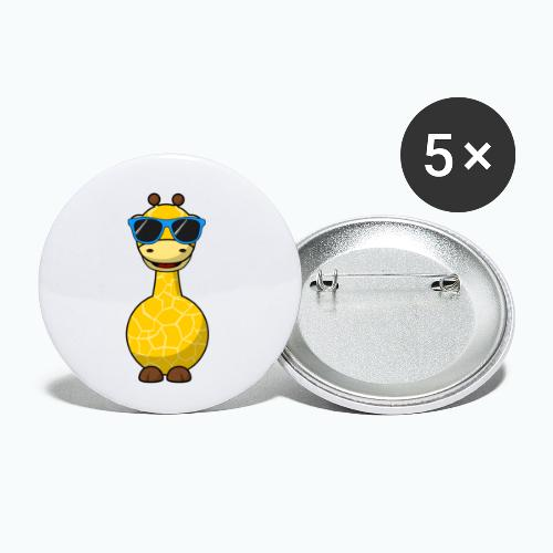 Gigi Giraffe with sunglasses - Appelsin - Små knappar 25 mm (5-pack)