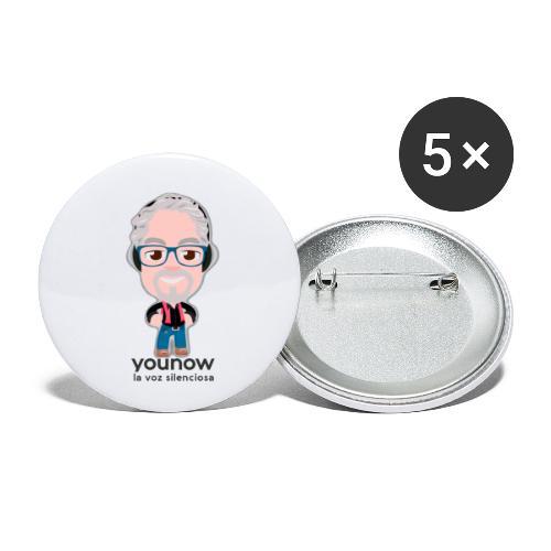 Younow - La voz silenciosa - Paquete de 5 chapas pequeñas (25 mm)