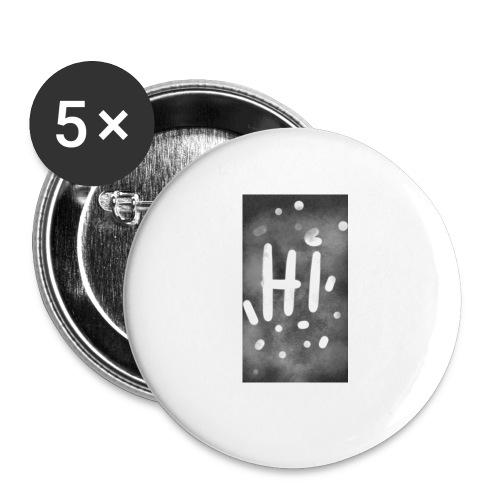 Hola o hi nublado - Paquete de 5 chapas pequeñas (25 mm)
