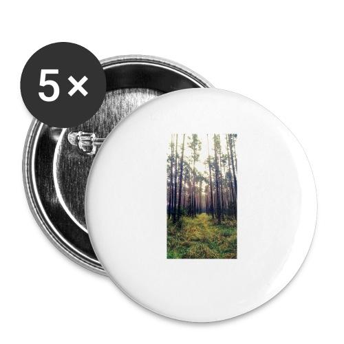 Las we mgle - Przypinka mała 25 mm (pakiet 5 szt.)