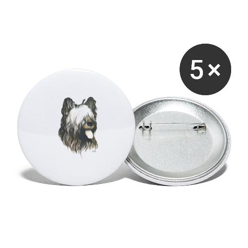 BRIARD Chien - Lot de 5 petits badges (25 mm)