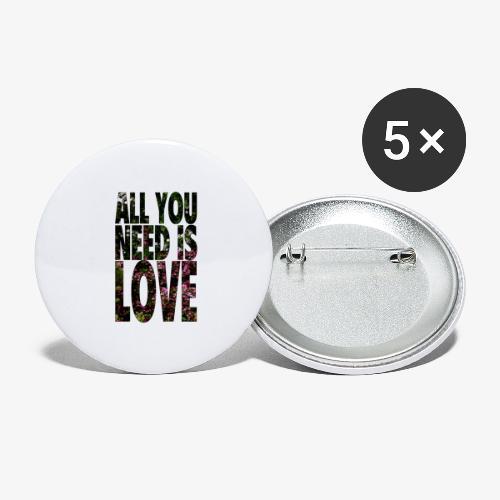 All You need is love - Przypinka mała 25 mm (pakiet 5 szt.)