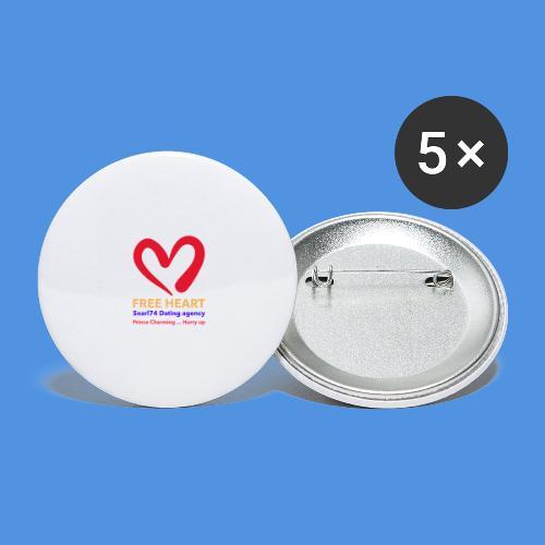 Marsida - Confezione da 5 spille piccole (25 mm)
