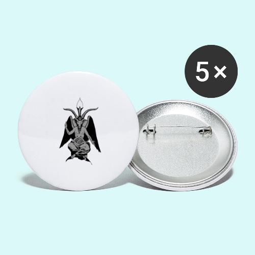 baphomet - Lot de 5 petits badges (25 mm)